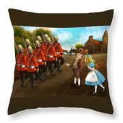 The British Soldiers Throw Pillow