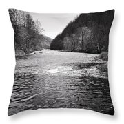The Broad River 1 Bw Throw Pillow