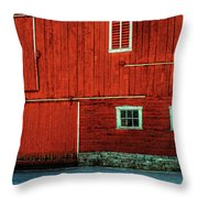 The Broad Side Of A Barn Throw Pillow by Lois Bryan