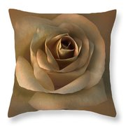 The Bronze Rose Flower Throw Pillow