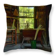 The Broom Room Throw Pillow