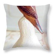 The Brown Bird Throw Pillow