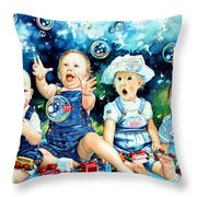 The Bubble Gang Throw Pillow