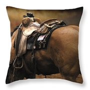 The Buckskin Throw Pillow