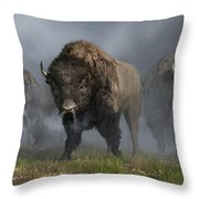 The Buffalo Vanguard Throw Pillow