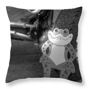 The Buggy Frog Throw Pillow