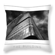 The Building Poster Throw Pillow