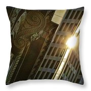 The Building Twightlight Throw Pillow
