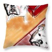 The Bulldogs Throw Pillow