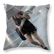 The Bunch And The Rain Throw Pillow