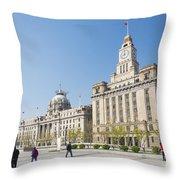 The Bund In Shanghai China Throw Pillow