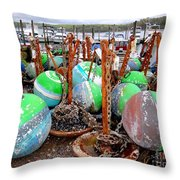 The Buoys Of Summer Throw Pillow