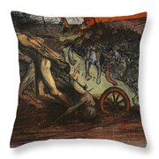 The Burden Of Taxation, Illustration Throw Pillow by Eugene Cadel