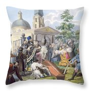 The Burial, 1812-13 Throw Pillow
