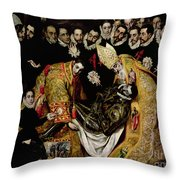 The Burial Of Count Orgaz From A Legend Of 1323 Detail Of A Young Page Throw Pillow