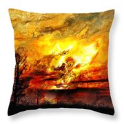 The Burning - Digital Paint Throw Pillow