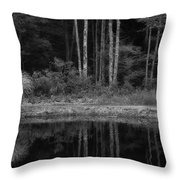 The Bush By The Lake Bw Throw Pillow