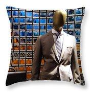 The Businessman Throw Pillow