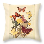 The Butterfly Book Throw Pillow