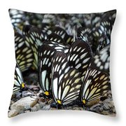 The Butterfly Gathering 2 Throw Pillow