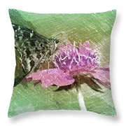 The Butterfly Visitor Throw Pillow