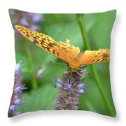 The Butterfly Wins Throw Pillow