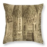 The Cabinet, Engraved By T. Morris Throw Pillow