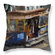 The Cable Car Throw Pillow