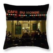 The Cafe Throw Pillow