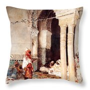 The Cafi Of The Swallows Throw Pillow