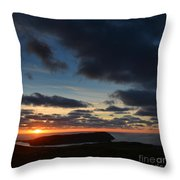 The Calf From A Hilltop In Twilight I Throw Pillow