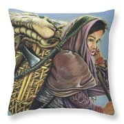 The Call Of The Shepherd    Throw Pillow
