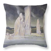 The Callanish Legend Isle Of Lewis Throw Pillow