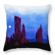 The Callanish Stones Scotland Throw Pillow