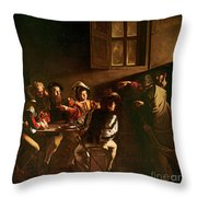 The Calling Of St Matthew Throw Pillow