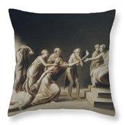 The Calumny Of Apelles Throw Pillow