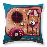 The Camper Van Throw Pillow