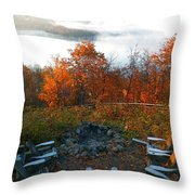 The Campsite Throw Pillow