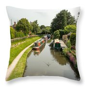 The  Trent And Mersey Canal At Alrewas Throw Pillow