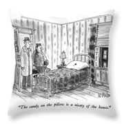 The Candy On The Pillow Is A Nicety Of The House Throw Pillow
