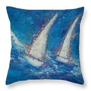 The Canvas Can Do Miracles Throw Pillow