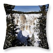 The Canyon In Winter Throw Pillow