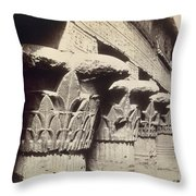 The Capitals Of The Portico Of The Temple Of Khnum In Esna Throw Pillow