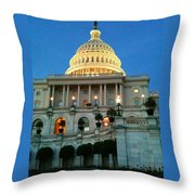 The Capitol At Dusk Throw Pillow