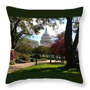 The Capitol Building  Throw Pillow