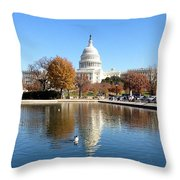The Capitol In Fall Throw Pillow