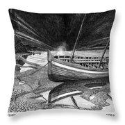 Captain Vancouvers Gig Throw Pillow
