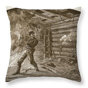 The Capture Of Booth, The Slayer Throw Pillow