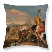 The Capture Of Carthage Throw Pillow