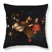 The Capture Of Christ Throw Pillow